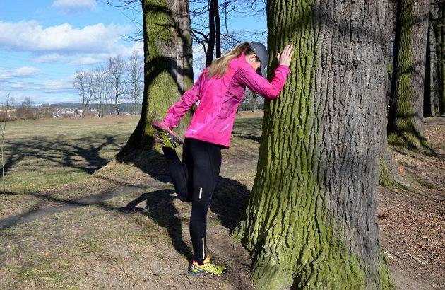 Zuzana Lišková v plné běžecké.