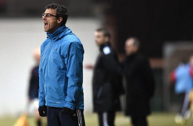 Jihlavský trenér Luděk Klusáček během utkání na Bohemians.