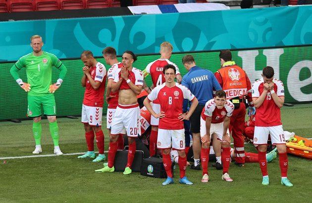 Dánští fotbalisté v šoku