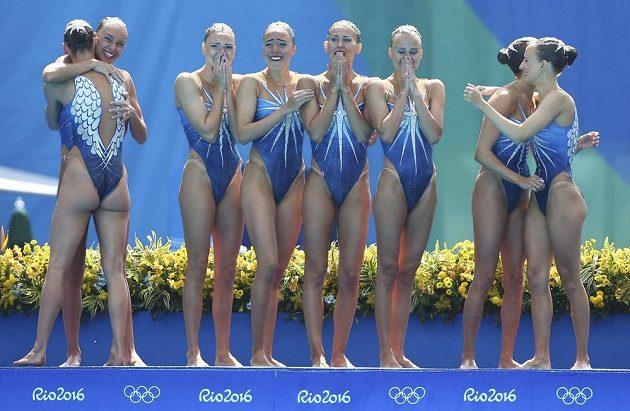 Ruské akvabely popáté za sebou vyhrály týmovou soutěž na olympijských hrách.