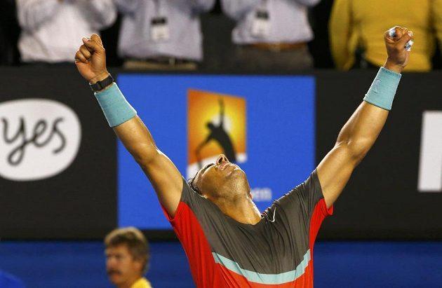 Radost Rafaela Nadala z postupu přes Rogera Federera.