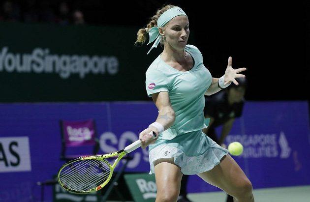 Ruská tenistka Světlana Kuzněcovová při jedné z výměn.