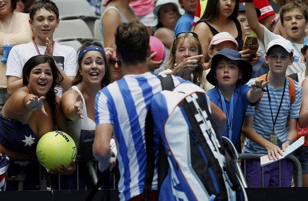 Tomáše Berdycha si zamilovaly i australské fanynky.