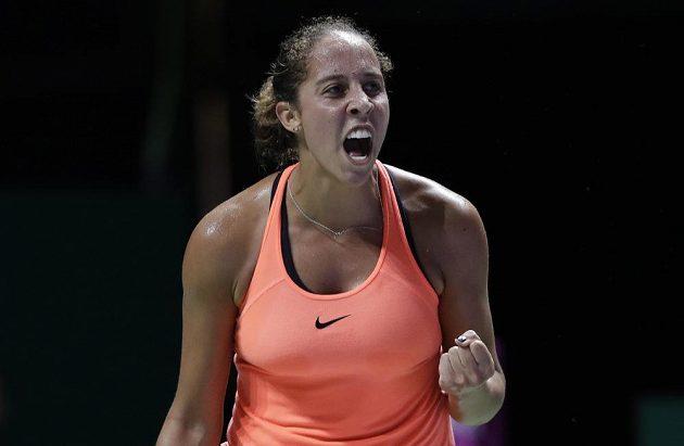 Vítězné gesto Madison Keysové.