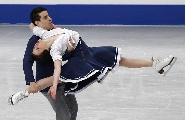 Taneční pár Anna Cappelliniová a Luca Lanotte na mistrovství světa v Japonsku.