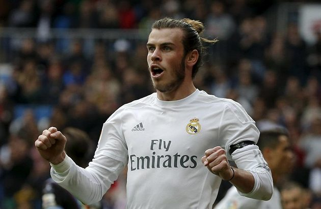 Gareth Bale v euforii.