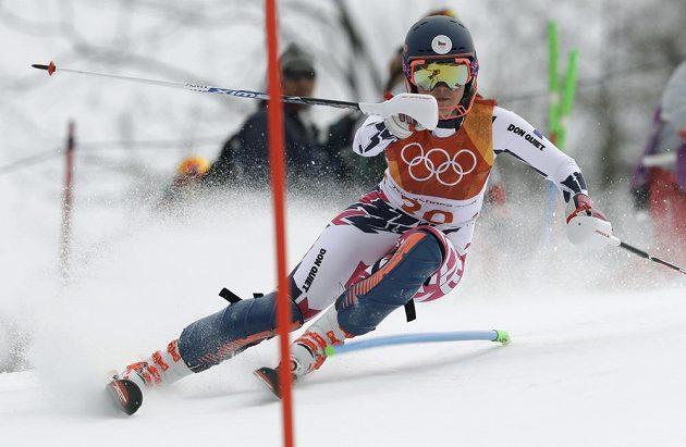 Češka Kateřina Pauláthová během kombinačního slalomu.