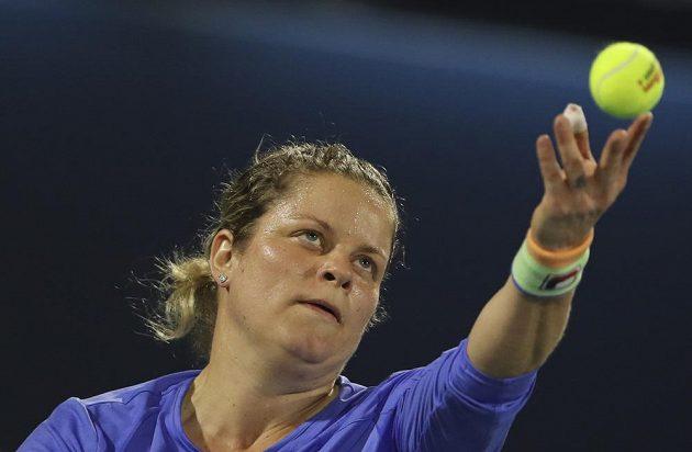 Bývalá světová jednička Belgičanka Kim Clijstersová v akci.