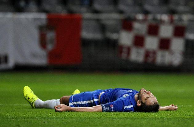 Zklamaný a unavený Marek Bakoš po liberecké prohře 1:2 v Braze.