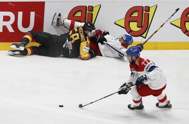 Boj o semifinále mezi Českem a Německem.