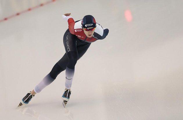 Rychlobruslařka Martina Sáblíková během závodu MS na 5 km.