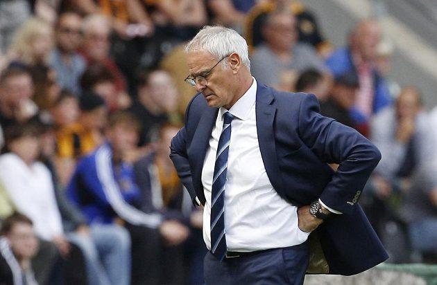 Zklamaný kouč Leicesteru City Claudio Ranieri.