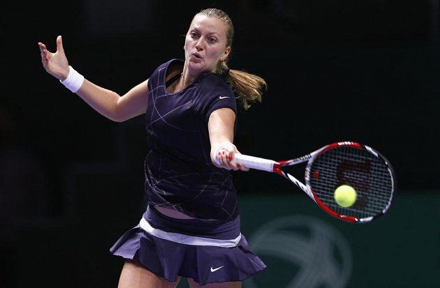 Petra Kvitová porazila na Turnaji mistryň v Istanbulu Polku Agnieszku Radwaňskou.