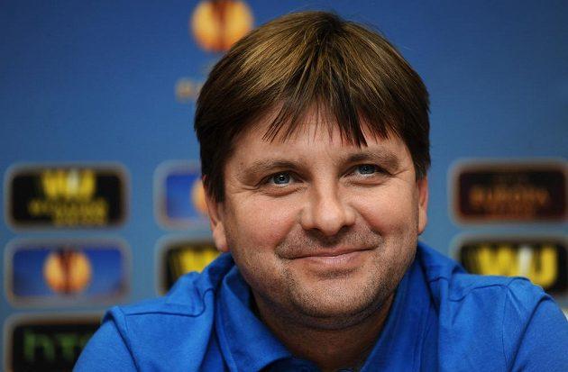 Trenér Viktorie Plzeň Dušan Uhrin během středeční tiskové konference před odvetným utkáním osmifinále Evropské ligy s Lyonem.