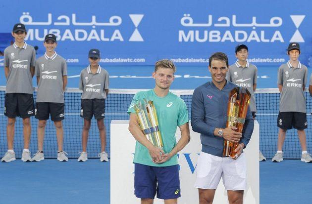 Rafael Nadal s trofejí.