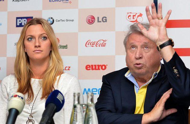 Petra Kvitová a majitel České sportovní Miroslav Černošek.