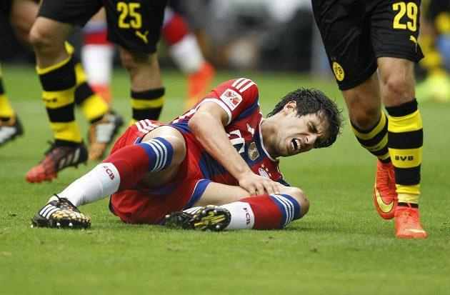 Stoper Bayernu Javier Martínez zápas s Borussií Dortmund nedohrál.