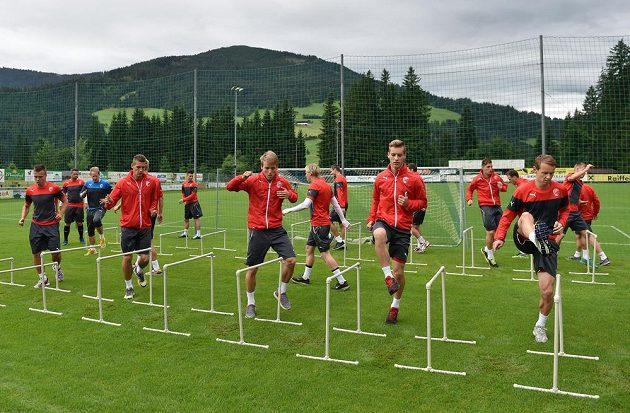 Fotbalisté Viktorie Plzeň během tréninku v rakouském Westendorfu.