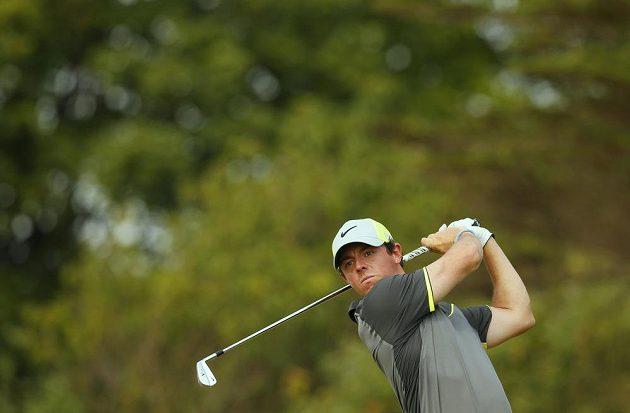 Rory McIlroy na snímku při druhém kole British Open.
