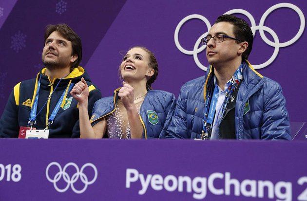 Brazilka Isadora Williams byla po krátkém programu spokojená se svým výsledkem.