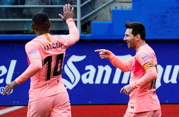 Lionel Messi se postaral o oba góly Barcelony