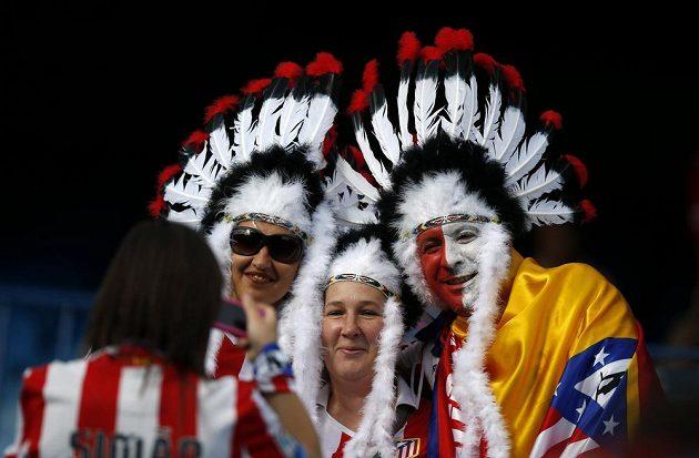 Fanoušci Atlétika v Lisabonu.