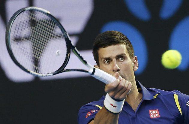 Srbský tenista Novak Djokovič při finále mužské dvouhry v Melbourne.