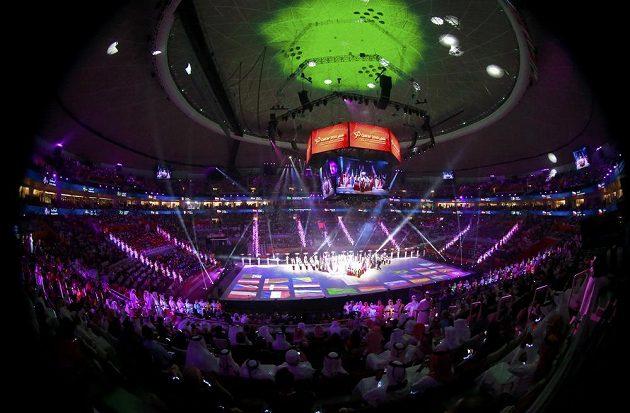 Zahajovací ceremoniál v supermoderní hale v Losailu nabídl divákům úchvatnou show.