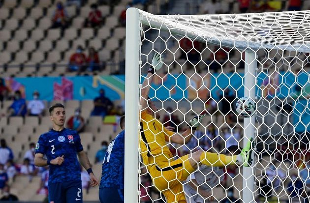 Veliká chyba Martina Dúbravky v zápase proti Španělsku