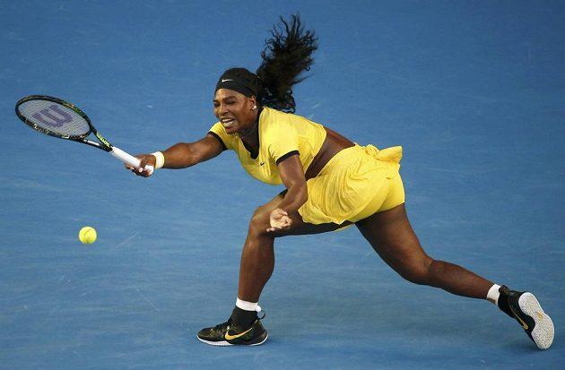 Americká tenistka Serena Williamsová během finále ženské dvouhry na letošním Australian Open.