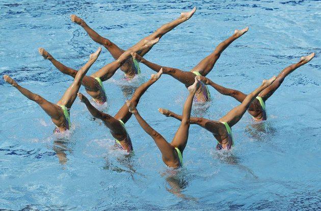 Synchronizované... No, rozkroky. Japonské plavkyně.