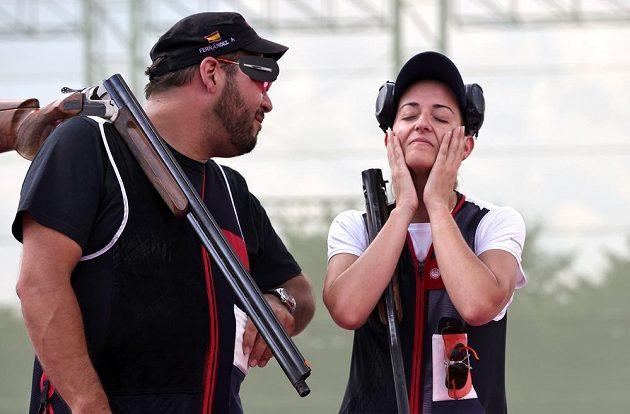 Střelci Alberto Fernández a Fátima Gálvezová vyhráli soutěž smíšených družstev v trapu