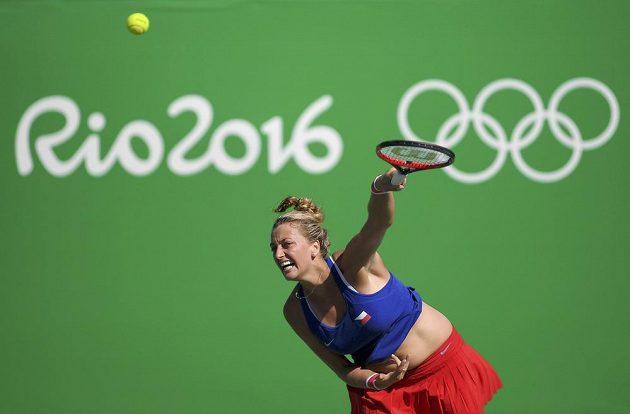 Petra Kvitová v olympijském souboji o bronz.