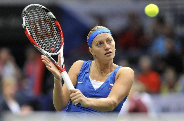 Petra Kvitová přidala postupový bod na cestě do finále Fed Cupu.