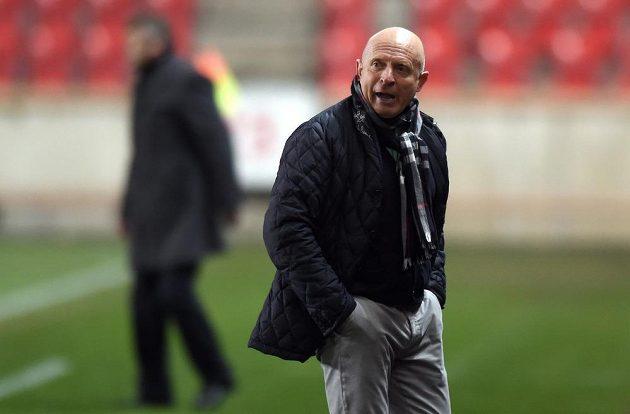 Mladoboleslavský trenér Karel Jarolím během utkání 20. kola Synot ligy se Slavií Praha.