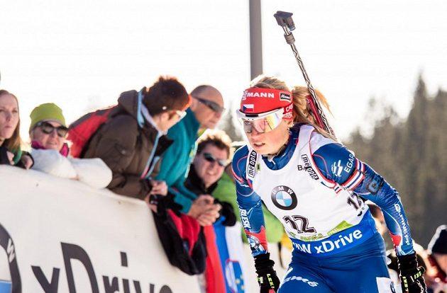 Eva Puskarčíková jako jediná z českých biatlonistek v Pokljuce ani jednou nechybovala.