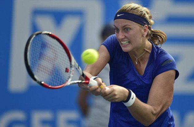Petra Kvitová během turnaje ve Wu-chanu.