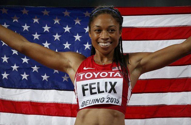 Američanka Allyson Felixová uspěla v Pekingu na trati 400 metrů.