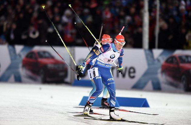 Veronika Vítková během závodu smíšených štafet při SP v Novém Městě na Moravě.