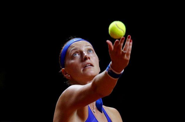 Petra Kvitová v utkání s Angelique Kerberovou.