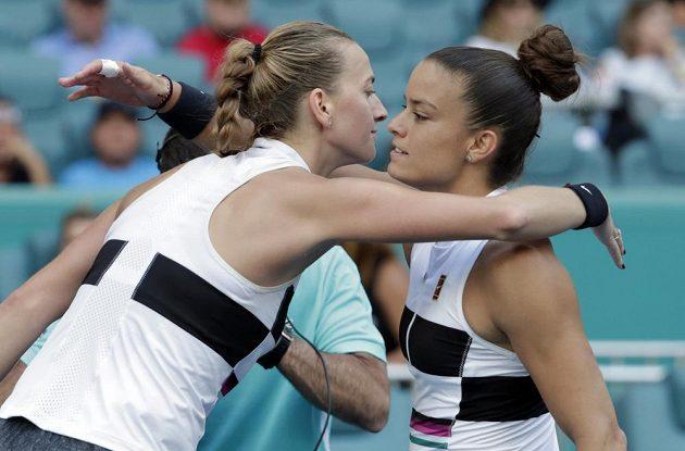 Světová dvojka Petra Kvitová zahájila tenisový turnaj v Miami vítězstvím 6:1, 6:4 nad Marií Sakkariovou z Řecka