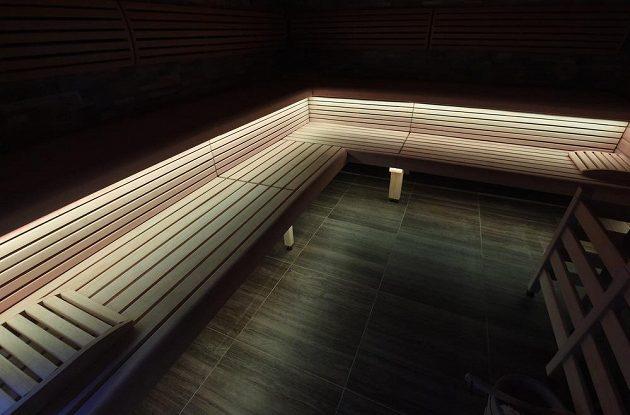 Sauna v rámci hotelového a sportovního komplexu Buly Aréna v Kravařích.