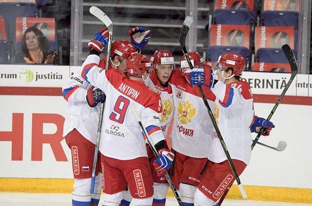 Radost ruských hokejistů.