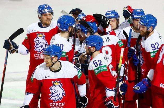 Česká radost po zápase s Běloruskem
