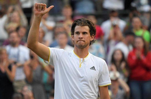 Dominic Thiem bude soupeřem Tomáše Berdycha v osmifinále Wimbledonu.