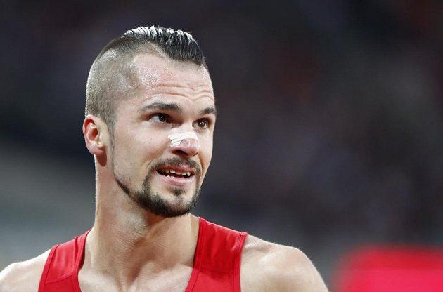 Jakub Holuša po vítěztví v semifinále na 1500 m při MS v Londýně.