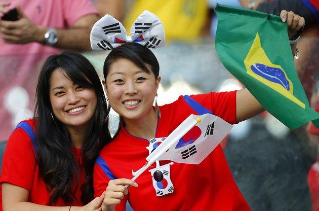 Fanynky Jižní Koreje se chystají na duel s Ruskem.