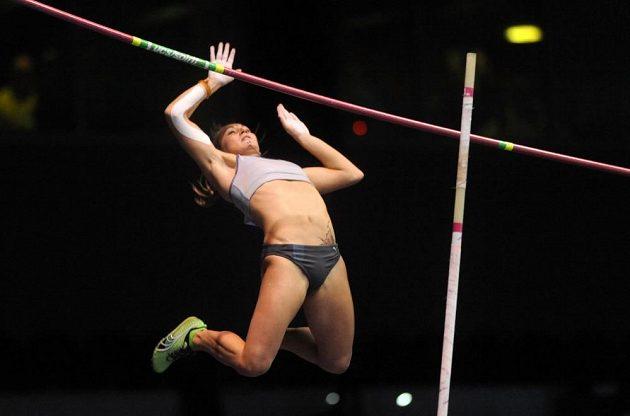 Romana Maláčová skončila na Zlaté tyčce s 435 cm šestá.