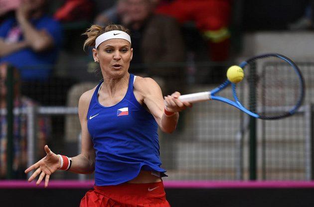 Lucie Šafářová se rozloučila vítězstvím.