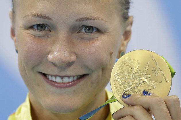 Švédka Sarah Sjöströmová s olympijským zlatem.